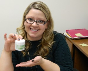 True Botanica employee holding Cleansing Cream