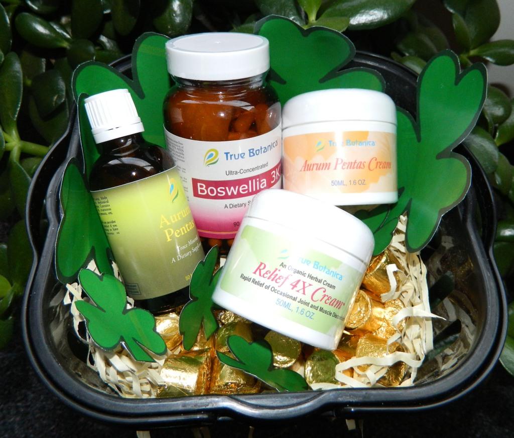 True Botanica Pot of Gold - Aurum Pentas, Aurum Pentas Cream, Boswellia 3k, Relief 4x Cream